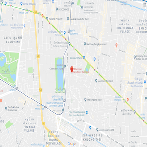 The location of Millennium Residence in Bangkok