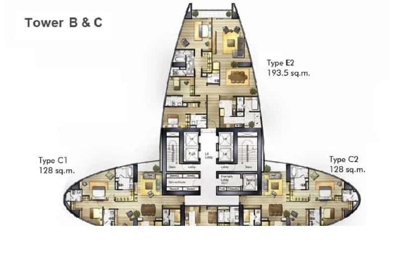 Floor Plans @ Millennium Residence in Bangkok