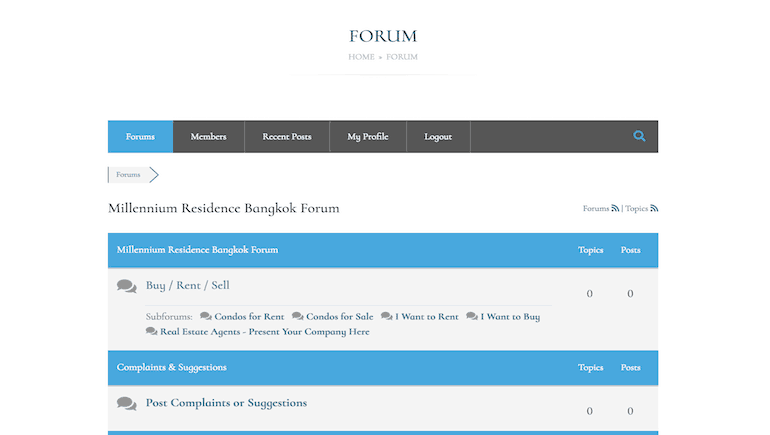The Forum and Online Community - Millennium Residence Bangkok - www.millenniumresidence.net