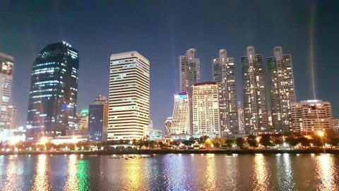 Millennium Residence in Bangkok - Night time from Benjakitti Park - www.millenniumresidence.net